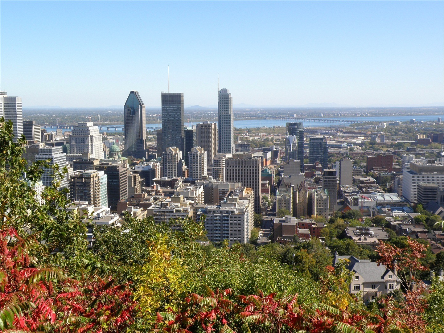 Getting a view of downtown Montreal from Mont Royal Park is one of the best things to do in Montreal