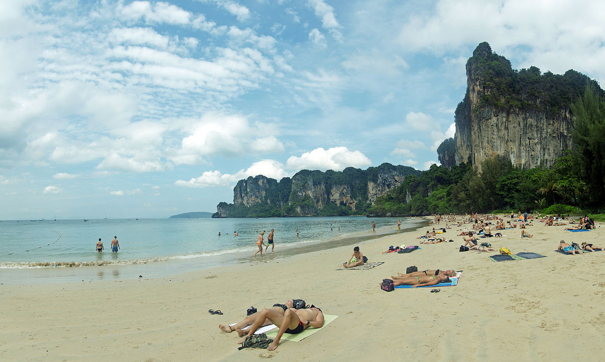 Railay Beach is one of the top highlights of Thailand ... photo by CC user kallerna on wikimedia